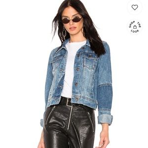 Free people indigo combo Jean jacket